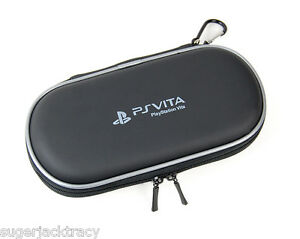Black Eva Hard Carry Case For Ps Vita Playstation Vita