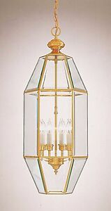 Minka Lavery Large 26 Solid Brass/Glass Foyer Pendant ...