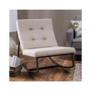 Upholstered Rocking Chair Tufted Baby Rocker Nursery