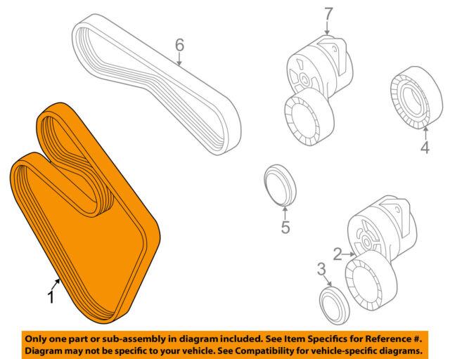 Genuine BMW Serpentine Belt Alternator Water Pump 11287636379 for