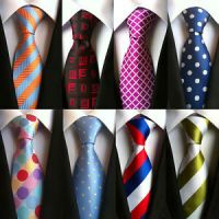 Mens Silk Tie Neck Ties For Men 2017 Jacquard Woven Floral ...