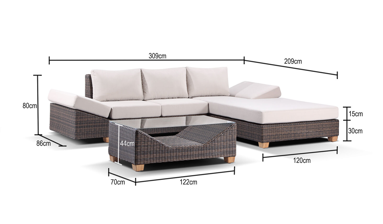 Sofa Lounge Gold Coast Details About Huge Outdoor Wicker Rattan Sofa Corner Chaise Lounge Couch Day Bed Furniture Set