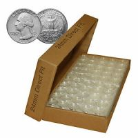 A24 Direct Fit Air-tight Coin Holder Capsules for QUARTERS ...