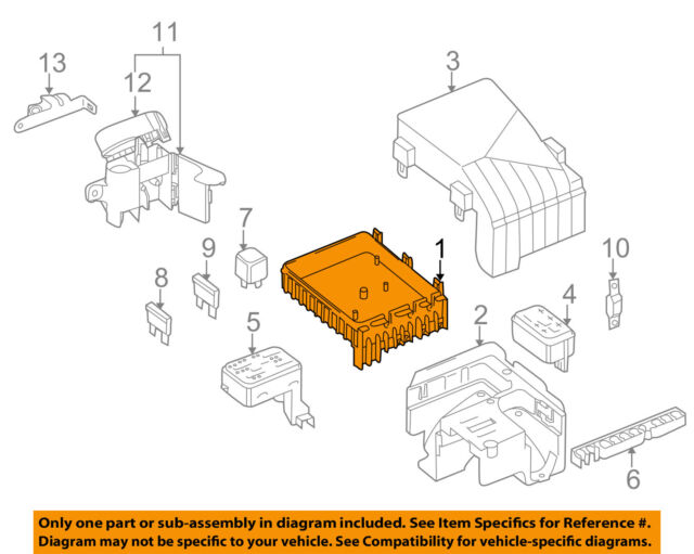 2010 Volkswagen CC Sport Engine Under Hood Fuse Relay Junction