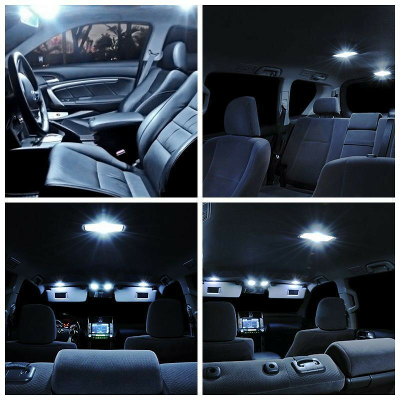Led Dome Light With Resistor 11pcs White Interior Led Light Package For 2002 - 2011