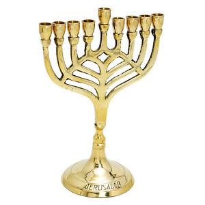 Candle Holder Brass Copper Israel 7quot Vintage Hanukkah