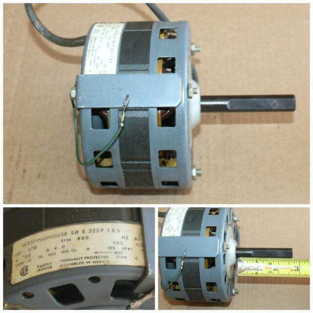 Westinghouse Motor 322P185 1/10 HP 880 RPM 115v Um-013 for sale