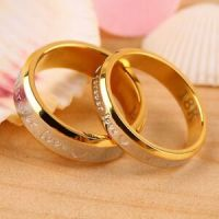 USA 2Pcs 18K Rose Gold Forever Love Couple Engagement ...