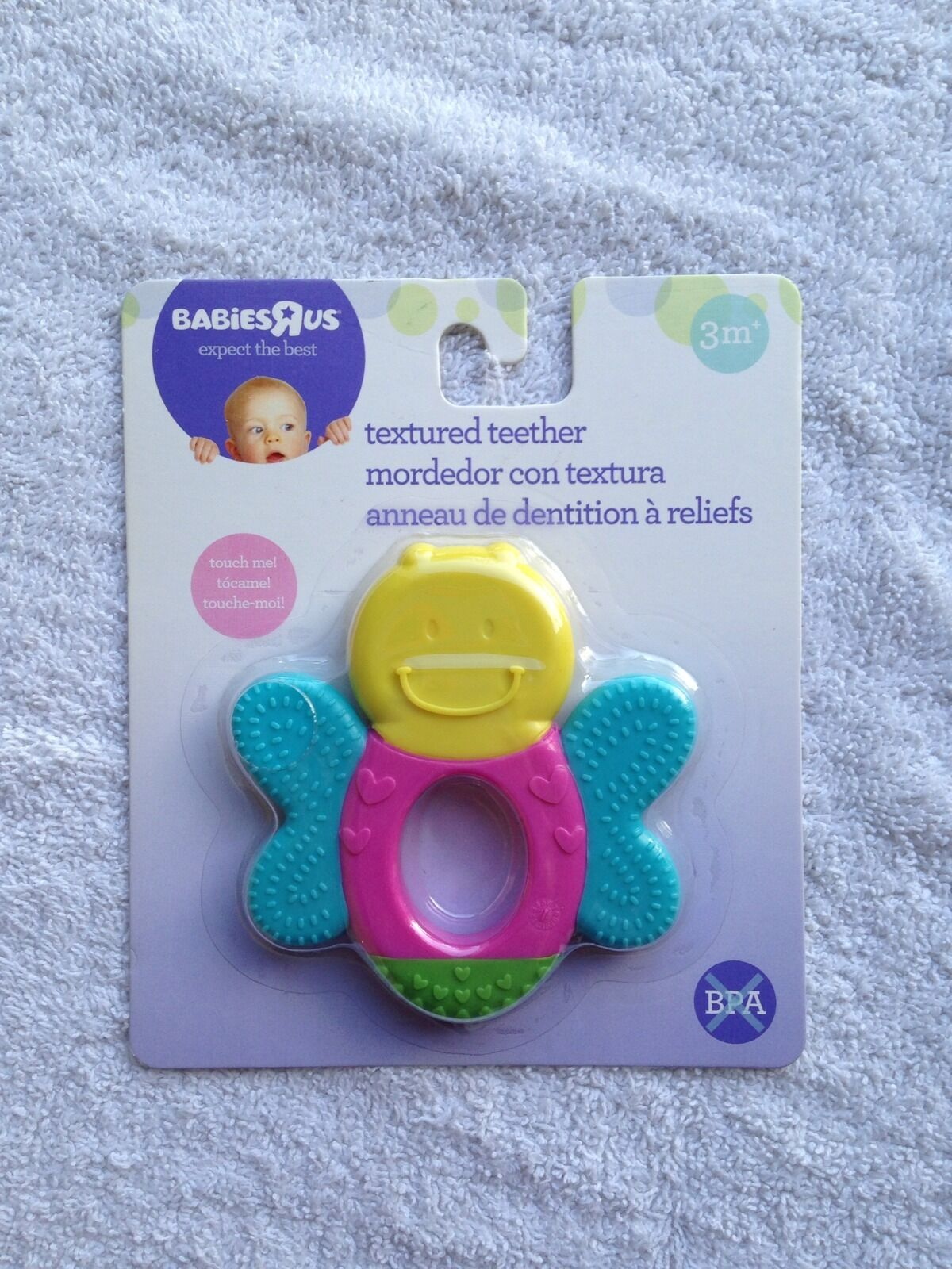 Baby Teethers Babies R Us Babies R Us Infant Textured Teether 3 Months Plus Multi Colored Butterfly