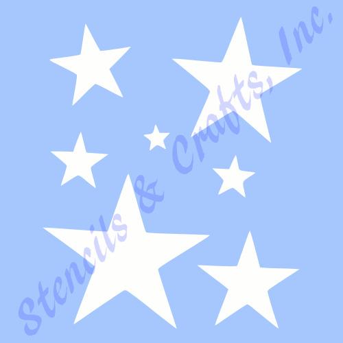 Star Stencil Many Stars Celestial Stencils Template Templates Craft - stars template