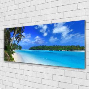 Glas-Bild Wandbilder Druck auf Glas 120x60 Deko Landschaften Wald Sonne