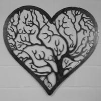 Heart shaped border tree of life wall art Solid Steel ...