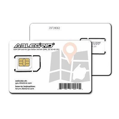 Ablegrid GSM SIM Card for GPS Tracker IOT USA Only ( Use T-mobile