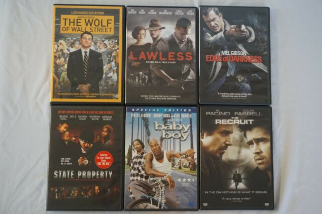 DVD Movie Lot #4 Wolf of Wall Street, Baby Boy, State Property