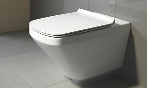 Duravit Durastyle Square Wall Hung Mounted Rimless Toilet