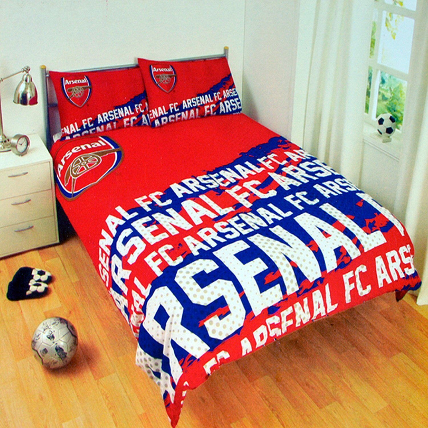 Boys Double Quilt Cover Official Fc Football Club Boys Reversible Duvet Quilt Cover Bedding Set Arsenal F C Impact Double