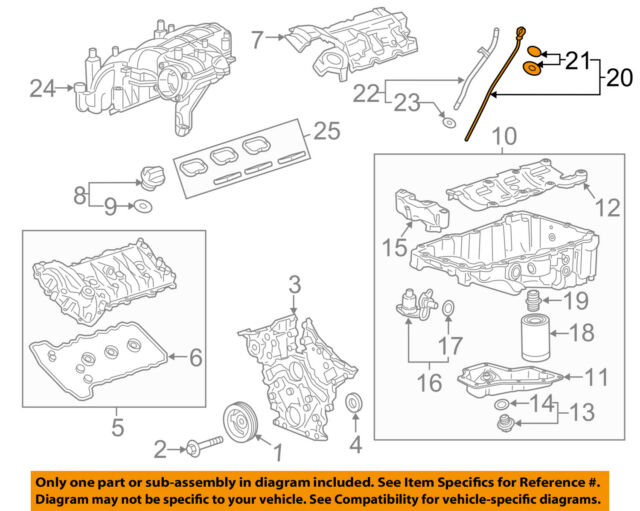 Cadillac GM OEM 2017 Xt5 Engine Parts-dipstick 12666871 eBay