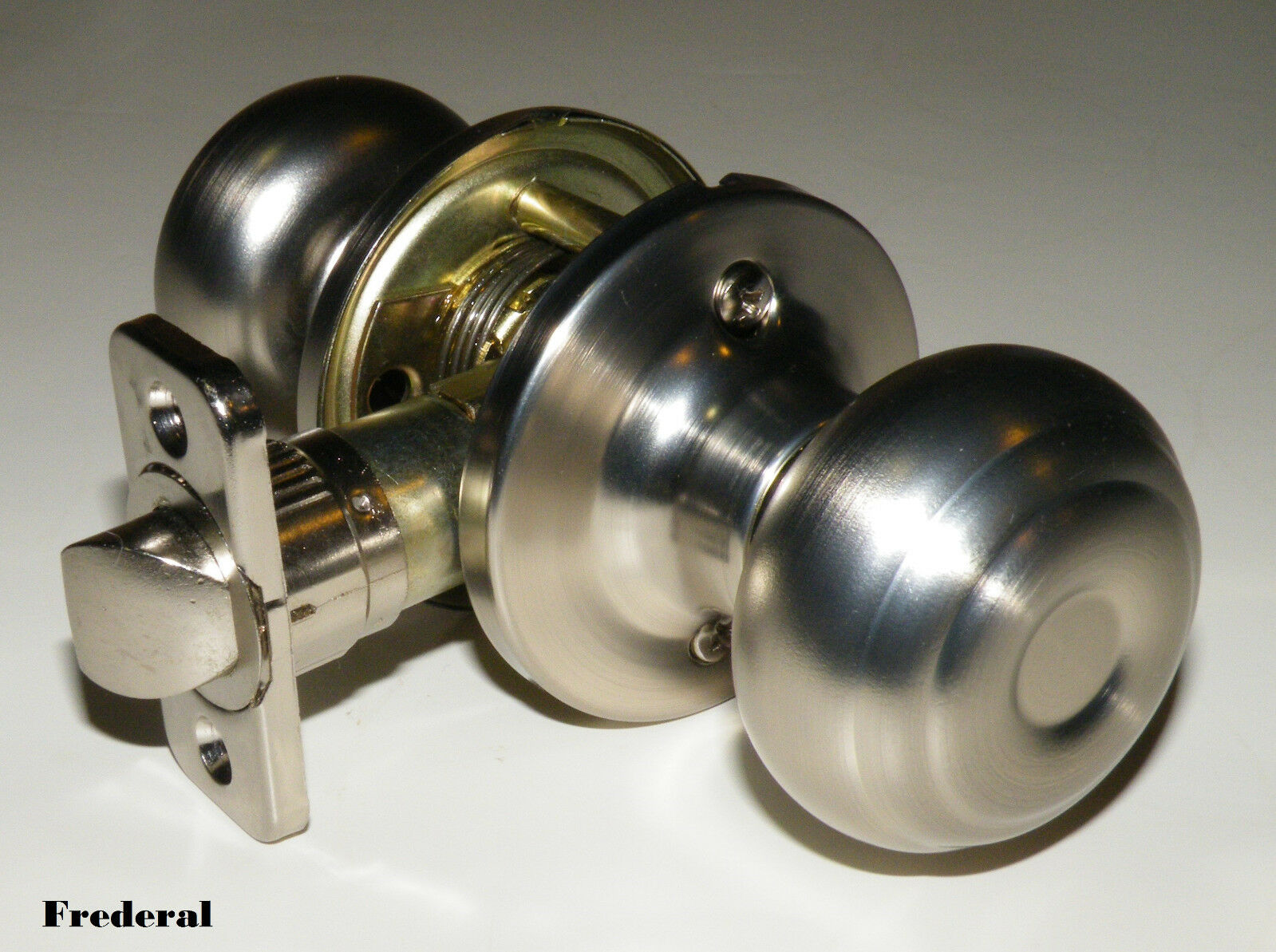 Bedroom Door Knobs Pro Satin Nickel Passage Interior Closet Hallway Door Knob