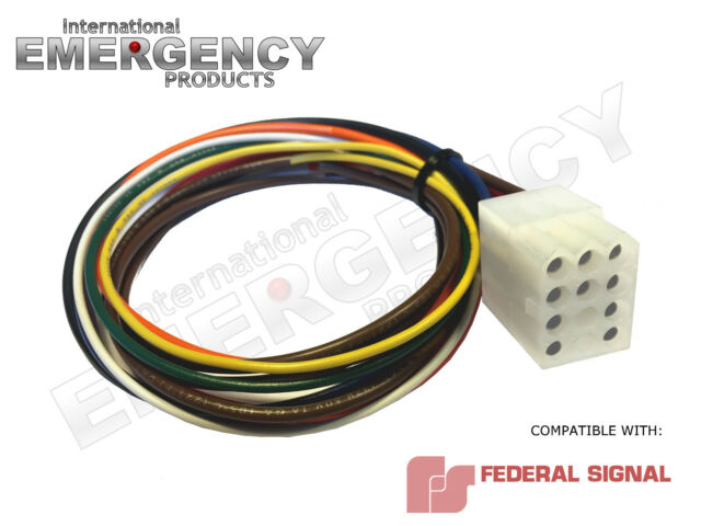 12 Pin Connector Plug Harness Power Cable for Federal Signal Siren