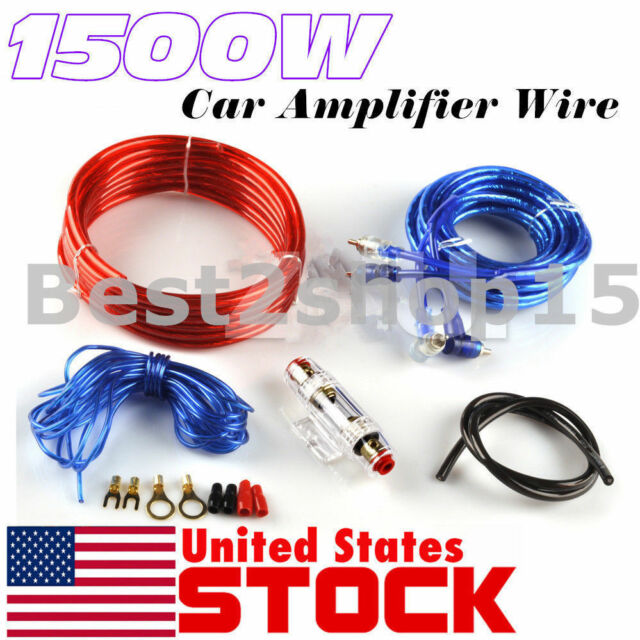 1500w Car Amplifier Wiring Kit Audio Subwoofer AMP RCA Power Cable