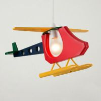Childrens Multi Coloured Helicopter Ceiling Pendant Light ...