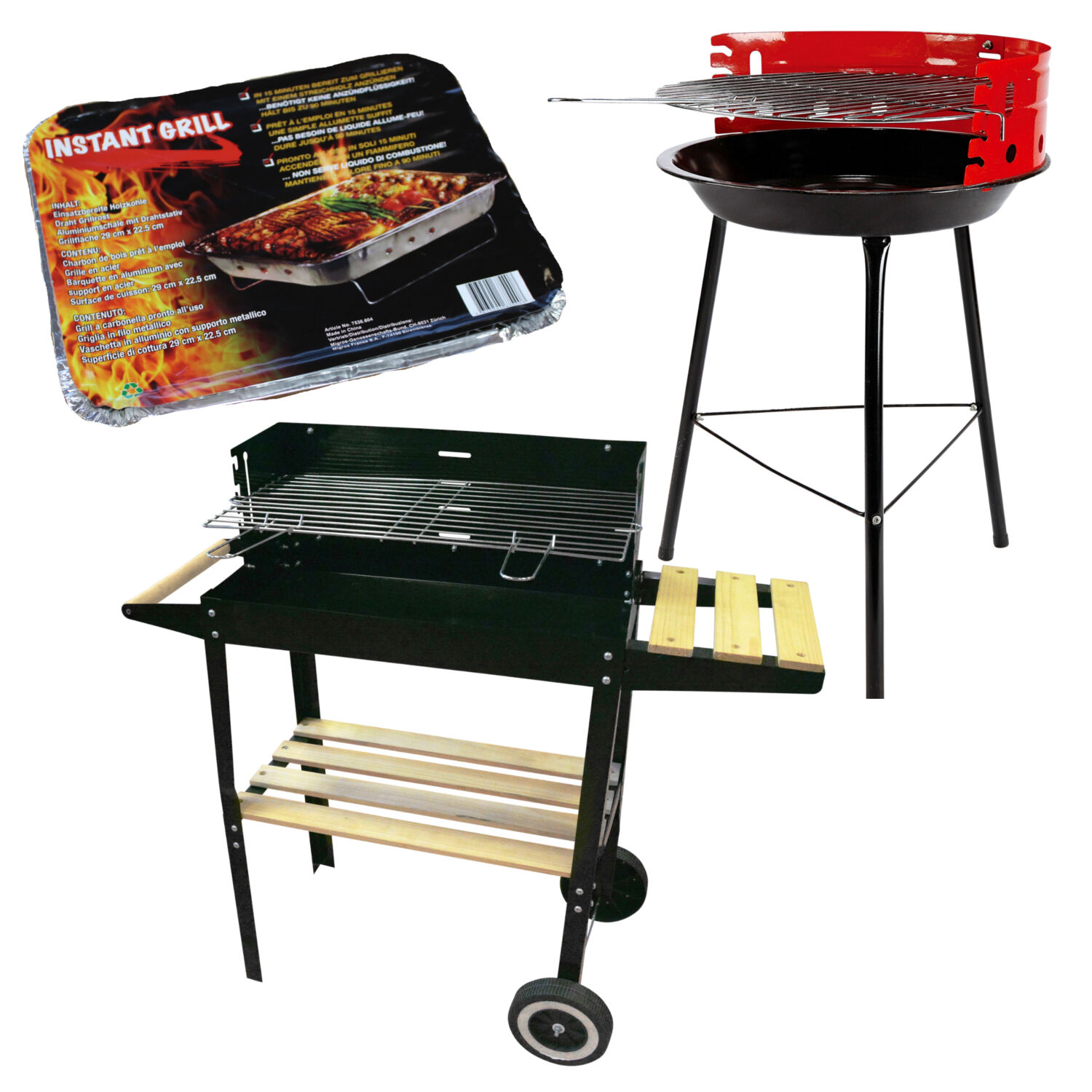 Günstiger Grill Disposable Barbecue Grill Kynast Round Festivalgrill Festival Cart Garden House