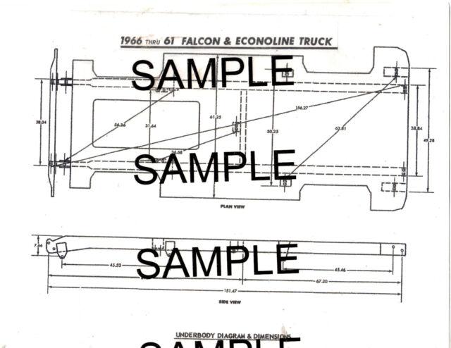 1961 1962 1963 - 1965 CHEVROLET CORVAIR TRUCKS FRAME DIAGRAM