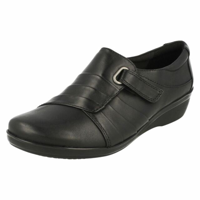 Buy Clarks Everlay Luna - Black Leather Womens Shoes 5 UK (see Size