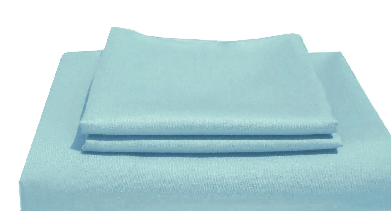 Pip Bettwäsche 155x220 Sale 1500tc Egyptian Cotton 1pc Fitted Sheet Sateen Solid Spa Blueeeee