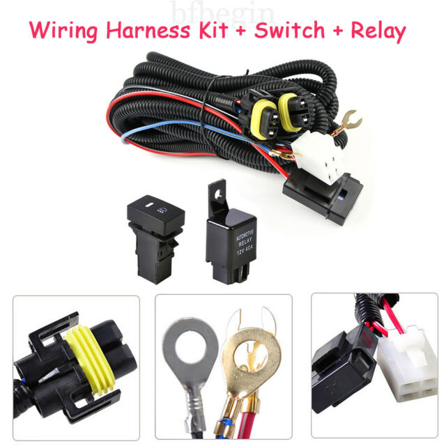 Fog Light Wiring Harness Sockets Wire LED Indicators Switch Relay