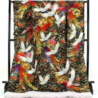 TRADITIONAL JAPANESE WEDDING KIMONO UCHIKAKE WALL HANGING ...