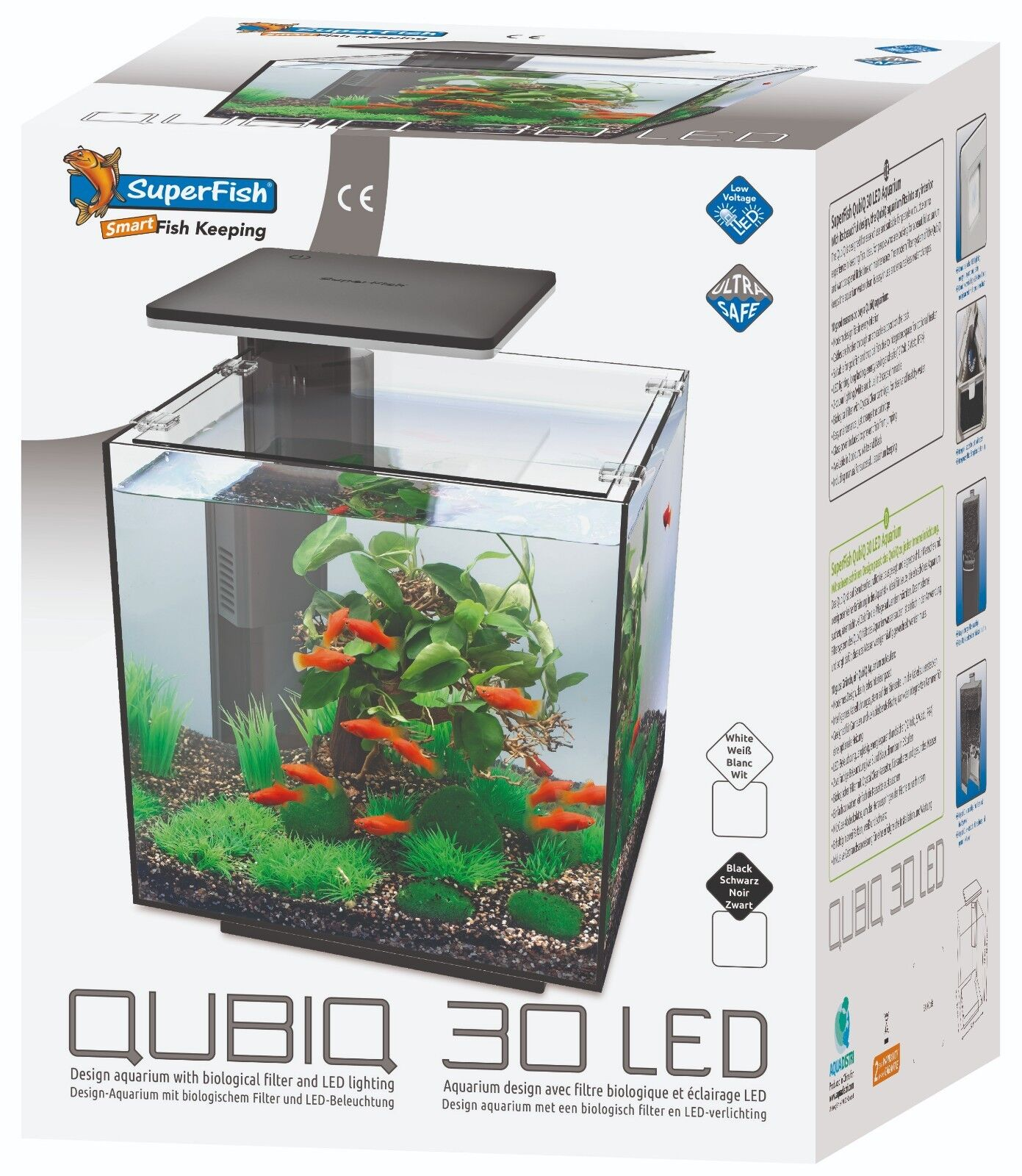 Eclairage Led Dennerle Superfish Qubiq 30 Led White 30l Nano Cube Aquarium Fish Tank Filter Led Light