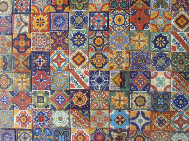 500 Mixed Designs Mexican Tile Handmade Talavera