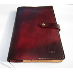 Small Crop Of Personalized Leather Journal