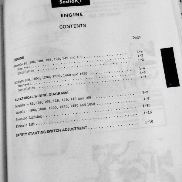 CUB CADET GARDEN TRACTOR 86 108 109 128 REPAIR KOHLER SERVICE MANUAL