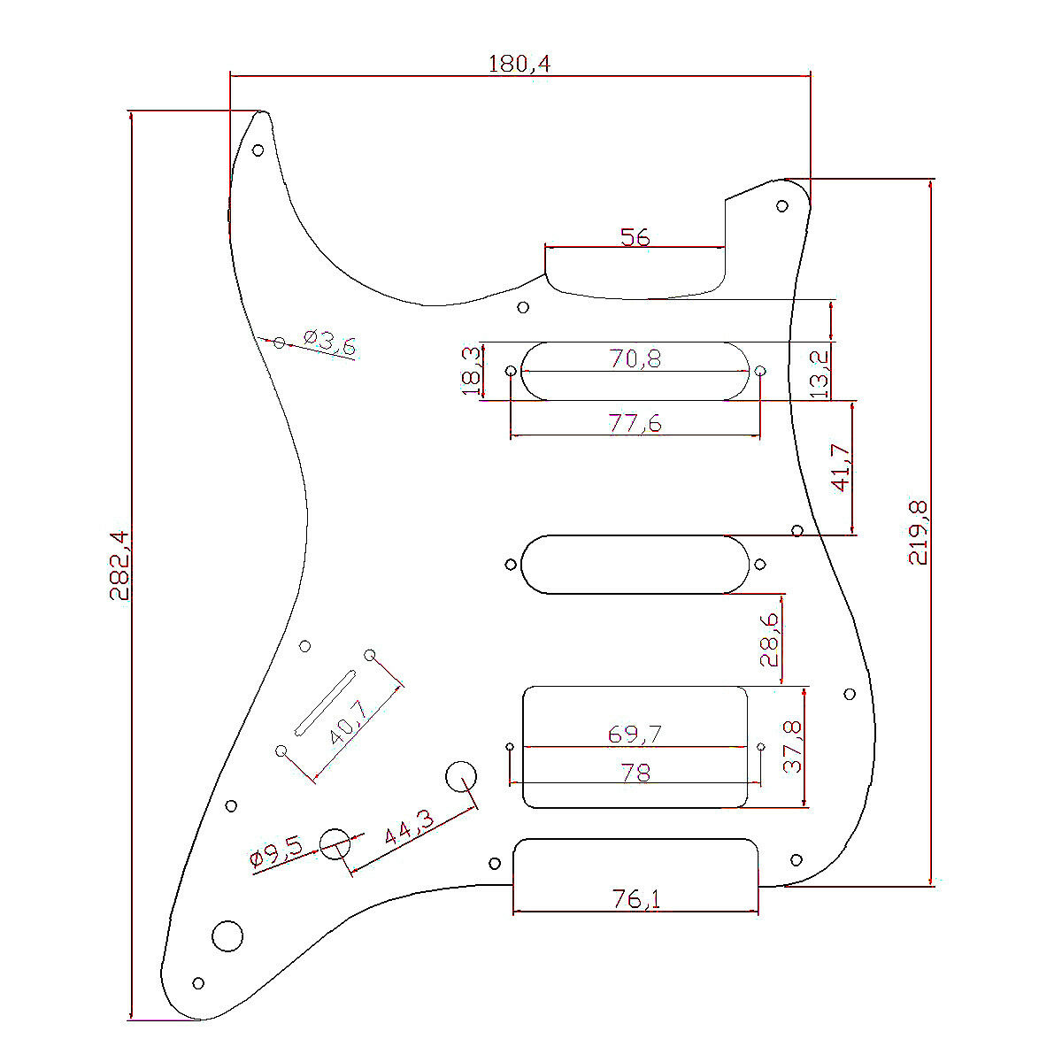 guitar wiring harness left handed