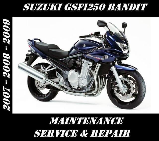 Suzuki GSF1250 Bandit 1250 Service Maintenance Repair Manual 2007