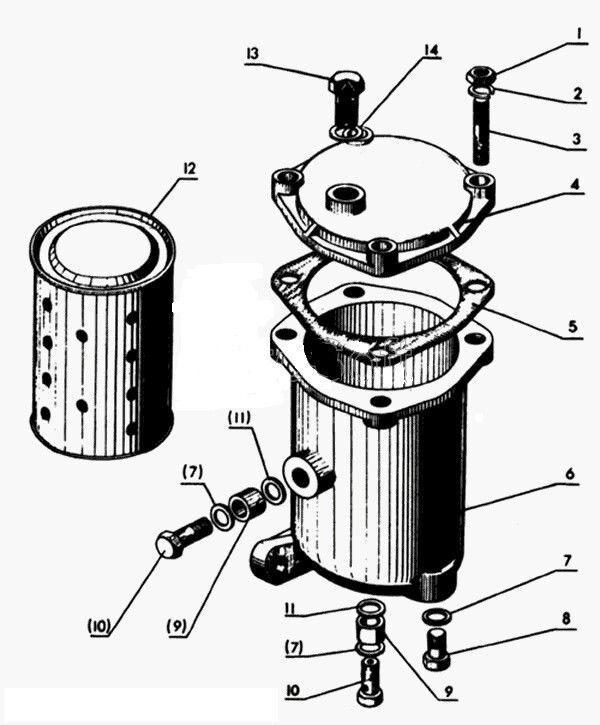 exmark diesel fuel filter