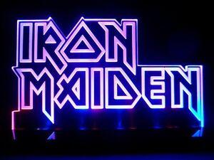 Iron Maiden Logo Heavy Metal Led Desk Lamp Night Light