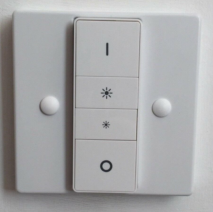 Philips Dimmer White Philips Hue Dimmer Lucasa Switch Plate Adapter Injection Moulded
