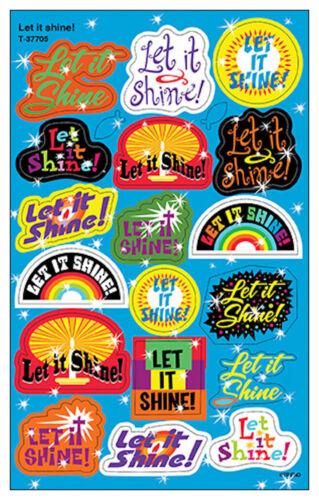 36 Let It Shine Kids Foil Reward Stickers - for Progress Charts eBay - progress chart for kids