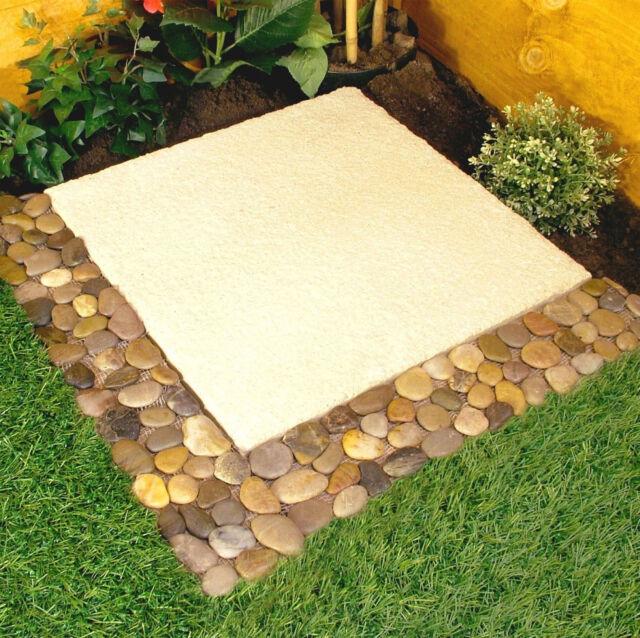 4 X Parkland Pebble Border Stone Garden Lawn Edging Strips