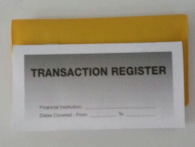 3 - Checkbook Transaction Registers  1 Yellow Vinyl Check Book