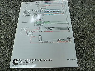 Cummins ISM Engine with CM876 Control Module Electrical Wiring