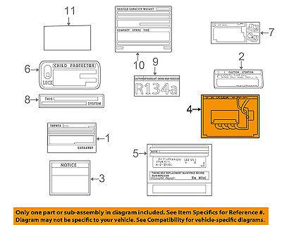 TOYOTA OEM Labels-vacuum Hose Diagram 1779221041