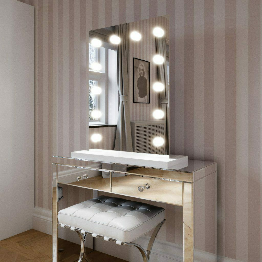 Standspiegel Vanity Hollywood Mirror Alicia Weiß Edge Mirror With With With Weiß