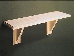 Large Natural Wood Wooden Shelf Storage Unit Stand