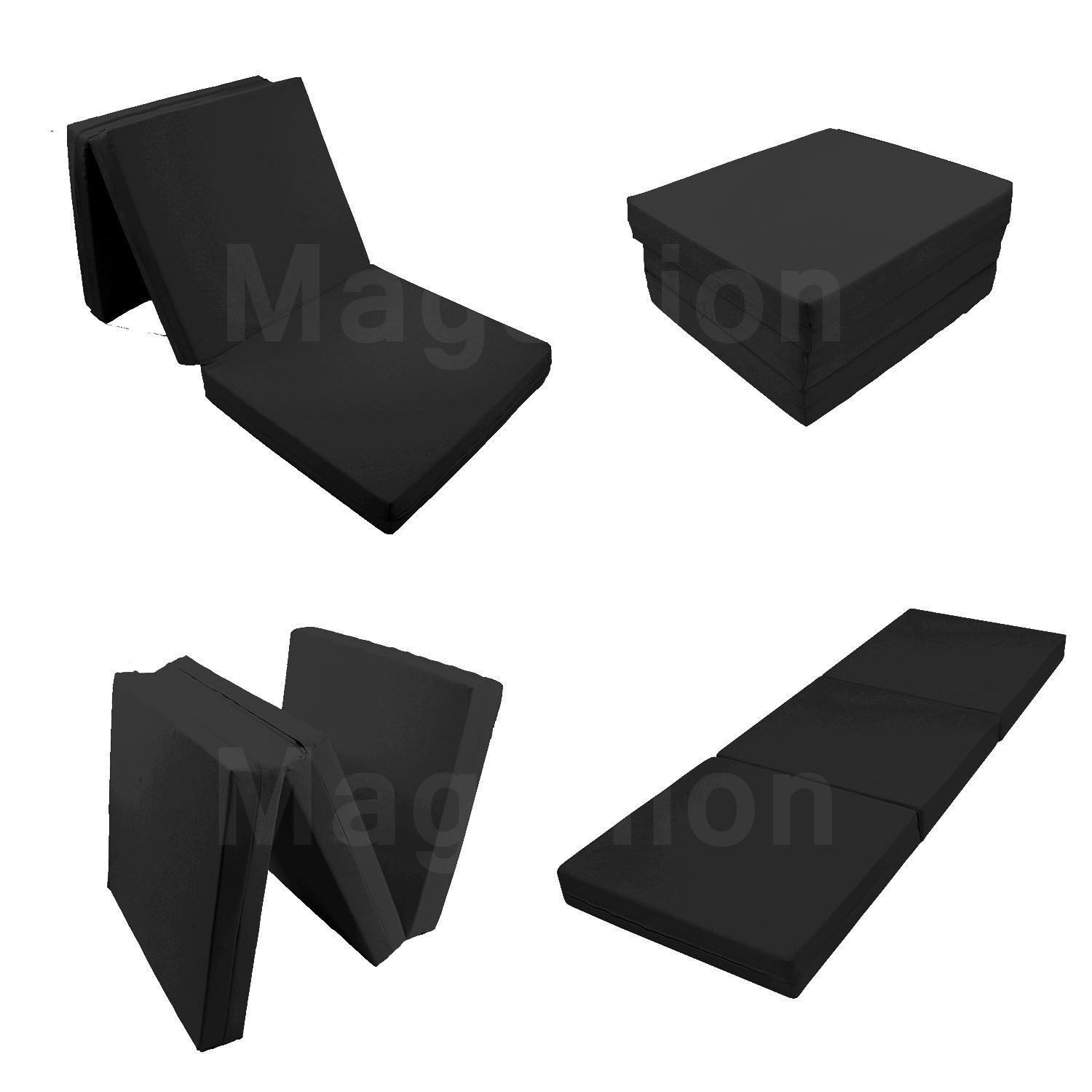 Foldable Mattresses Details About Floor Mattress Tatami Foam Mat Foam Bed Trifold Folding Mattresses Black