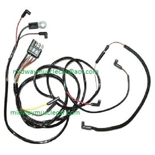 65 Ford Mustang V8 Engine Gauge Feed Wiring Harness 1965 260 289 for