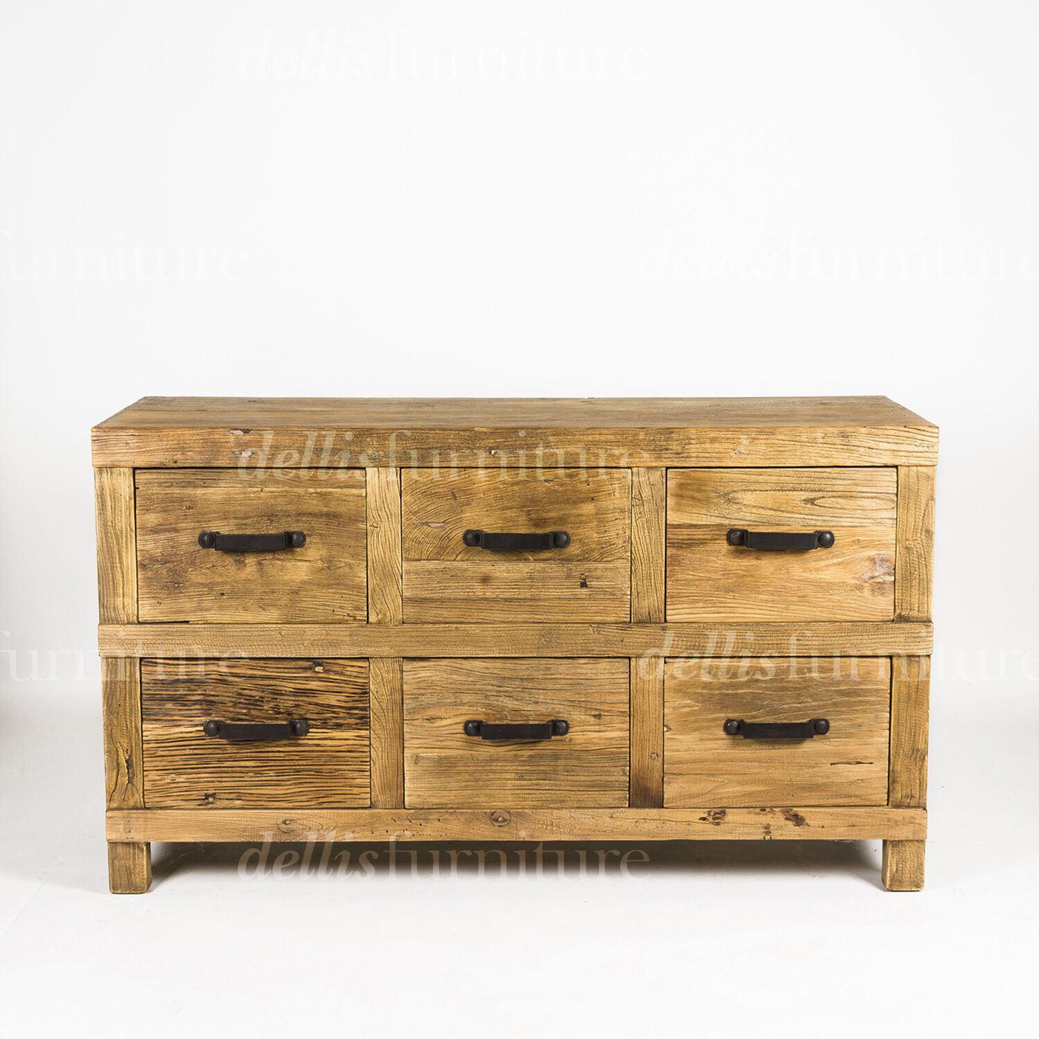 Timber Sideboard New Small Rustic Recycled Elm Timber Sideboard Natural 2